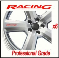 FORD RACING CAR WHEEL DECALS